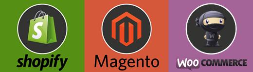 Comparativa Magento, Shopify y Woocommerce